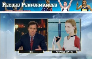 """Audrey, are you ready to be the most popular girl in Charleston and the aquatic trampoline rifle world?"" asked Bob Costas."