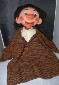 Last year's trustee giveaway was the President Crandall puppet.